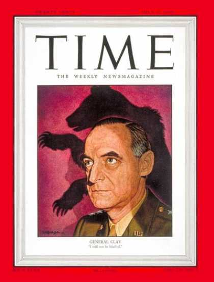 Time - General Lucius Clay - July 12, 1948 - Army - Generals - Military