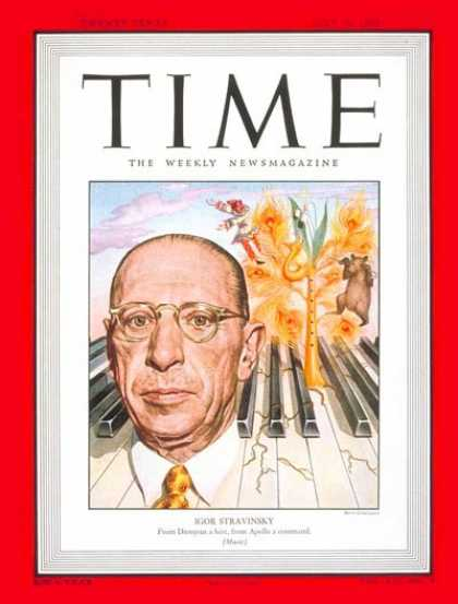 Time - Igor Stravinsky - July 26, 1948 - Composers - Pianists - Classical Music - Music