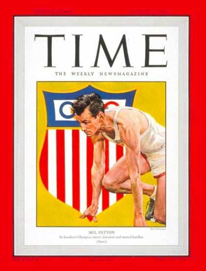 Time - Mel Patton - Aug. 2, 1948 - Olympics - Track & Field - Sports