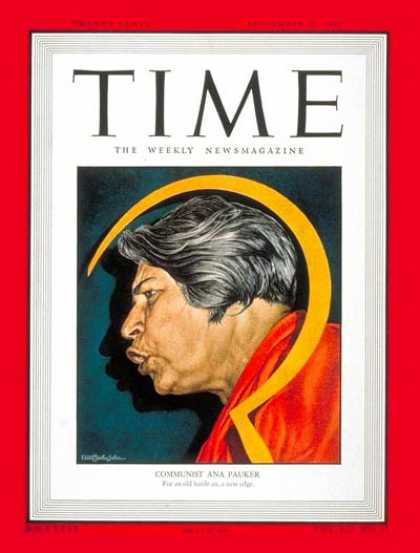 Time - Ana Pauker - Sep. 20, 1948 - Romania - Communism