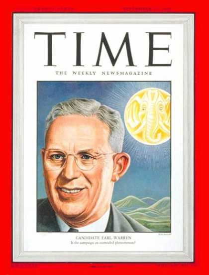 Time - Earl Warren - Sep. 27, 1948 - Politics