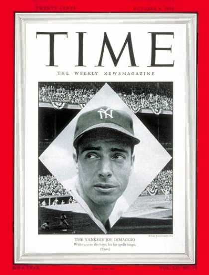 Time - Joe DiMaggio - Oct. 4, 1948 - Baseball - New York - Most Popular - Sports