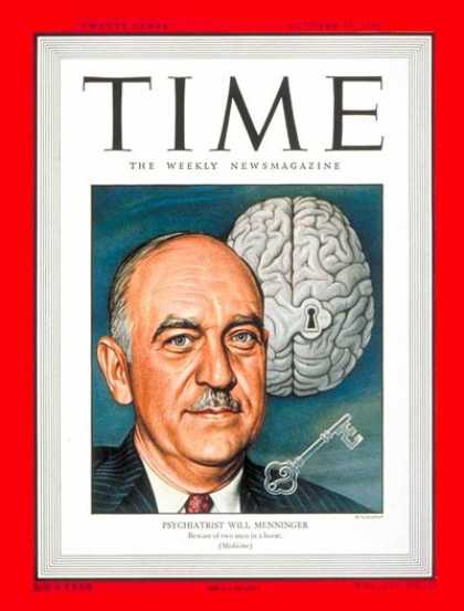 Time - William C. Menninger - Oct. 25, 1948 - Mental Health - Psychiatry - Health & Med