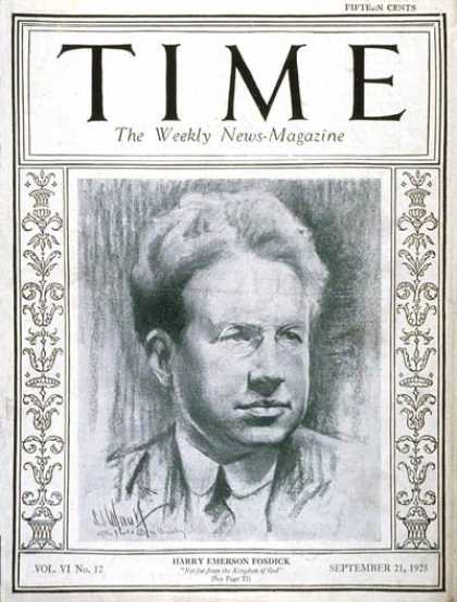 Time - Harry Emerson Fosdick - Sep. 21, 1925 - Religion - Books