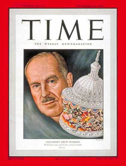 Time - Drew Pearson - Dec. 13, 1948 - Journalism - Radio - Media