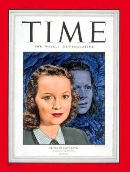 Time - Olivia de Havilland - Dec. 20, 1948 - Actresses - Movies