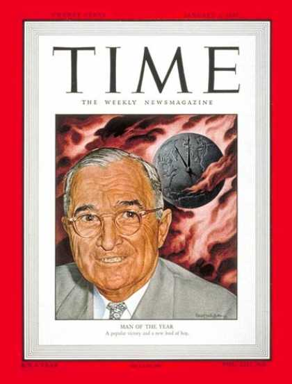 Time - Harry S. Truman, Man of the Year - Jan. 3, 1949 - Harry S. Truman - Person of th