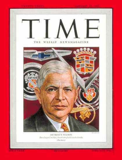 Time - Charles E. Wilson - Jan. 24, 1949 - Cars - General Motors - Automotive Industry