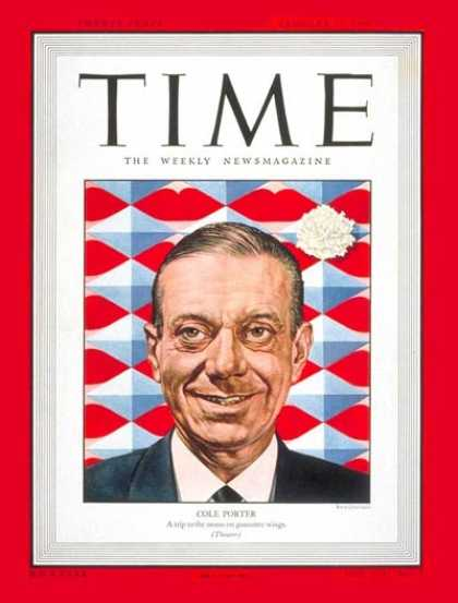 Time - Cole Porter - Jan. 31, 1949 - Composers - Pianists - Music - Broadway