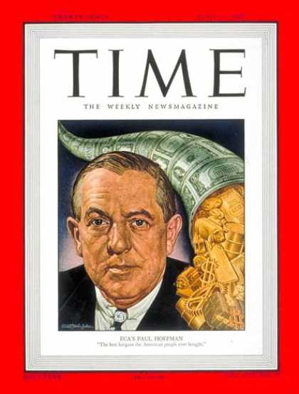 Time - Paul G. Hoffman - Apr. 11, 1949 - Paul Hoffman - Cars - Automotive Industry - Tr