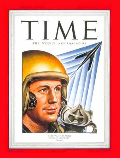 Time - Chuck Yeager - Apr. 18, 1949 - Air Force - Aviation - Military