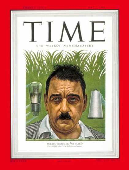 Time - Luis Munoz Marin - May 2, 1949 - Puerto Rico