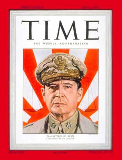 Time - General Douglas MacArthur - May 9, 1949 - Douglas MacArthur - Army - Generals -