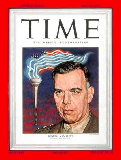 Time - Lt. General Van Fleet - May 23, 1949 - Army - Military