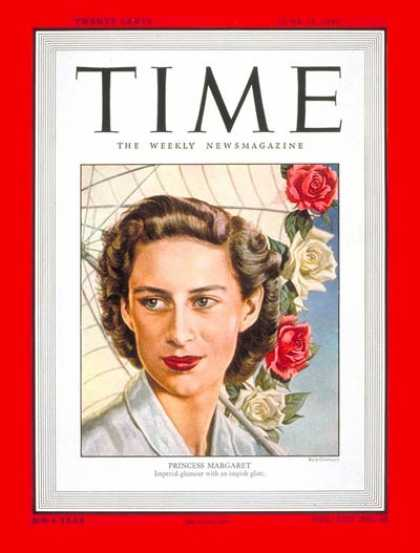 Time - Princess Margaret - June 13, 1949 - Great Britain - Royalty