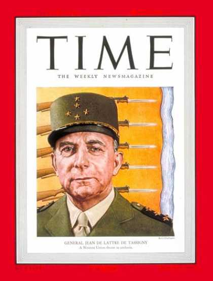 Time - General de Tassigny - Aug. 1, 1949 - France - Military - Generals
