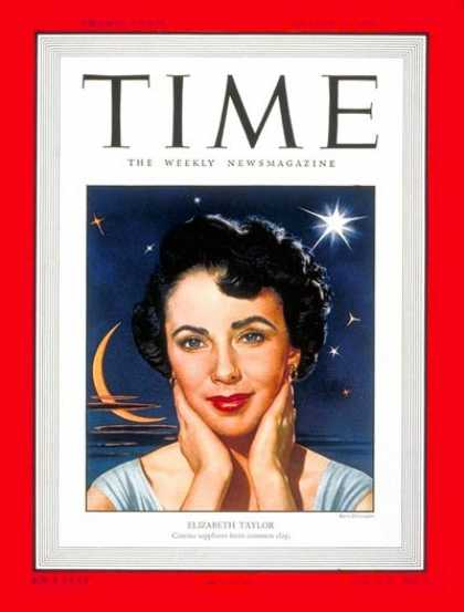Time - Elizabeth Taylor - Aug. 22, 1949 - Actresses - Most Popular - Movies