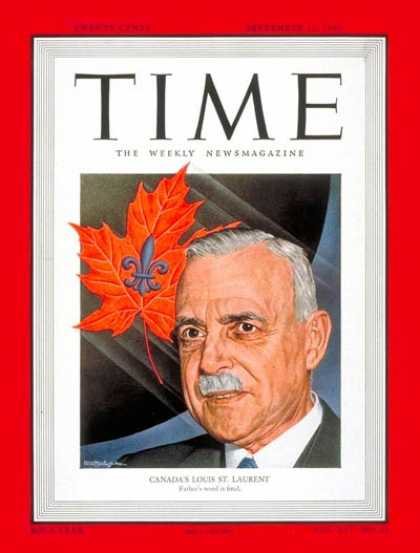 Time - Louis St. Laurent - Sep. 12, 1949 - Canada - Prime Ministers
