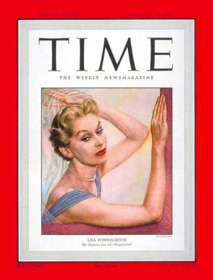Time - Lisa Fonssagrives - Sep. 19, 1949 - Style - Fashion - Models