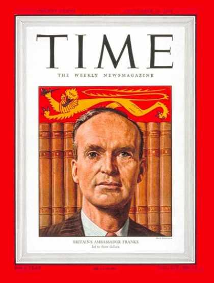 Time - Sir Oliver Franks - Sep. 26, 1949 - Great Britain