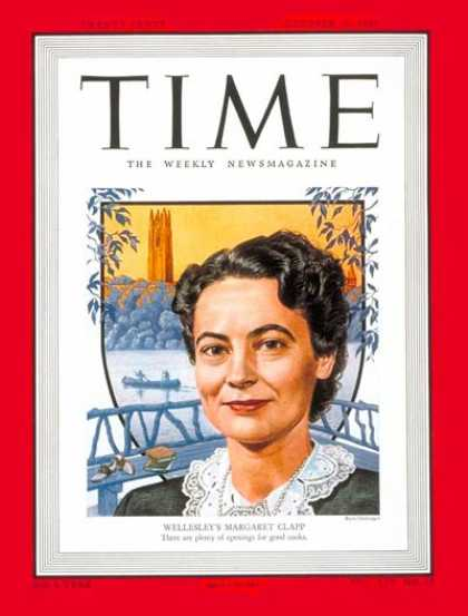 Time - Margaret Clapp - Oct. 10, 1949 - Singers - Music