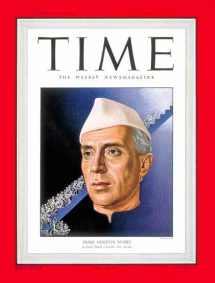 Time - Jawaharlal Nehru - Oct. 17, 1949 - India