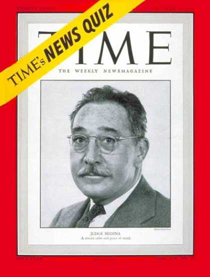 Time - Judge Harold Medina - Oct. 24, 1949 - Law