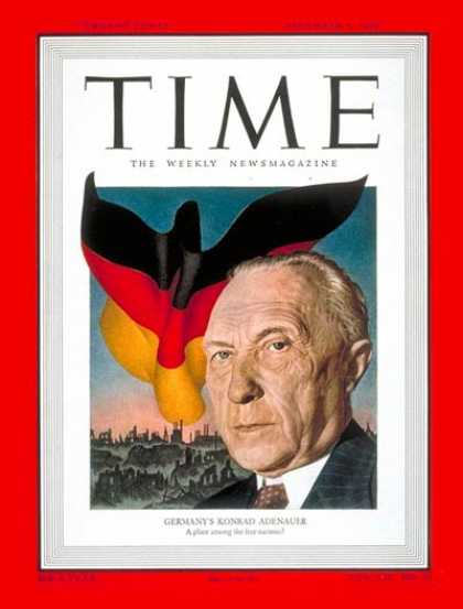 Time - Konrad Adenauer - Dec. 5, 1949 - Germany