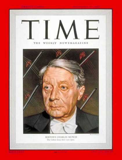 Time - Charles Munch - Dec. 19, 1949 - Conductors - Classical Music - Music
