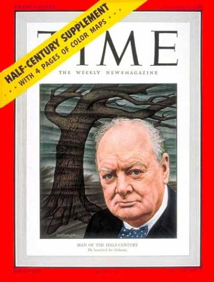 Time - Winston Churchill, Man of the Year - Jan. 2, 1950 - Winston Churchill - Person o
