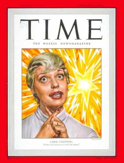 Time - Carol Channing - Jan. 9, 1950 - Actresses - Broadway - Singers - Theater - Movie