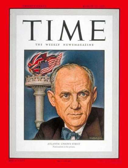 Time - Clarence K. Streit - Mar. 27, 1950 - Journalism - Newspapers - Media