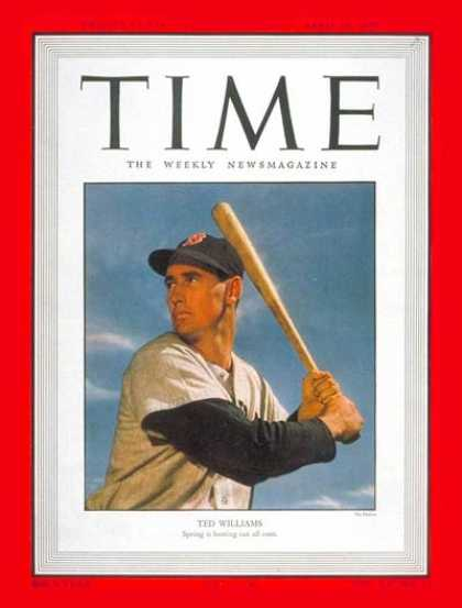 Time - Ted Williams - Apr. 10, 1950 - Baseball - Boston - Sports