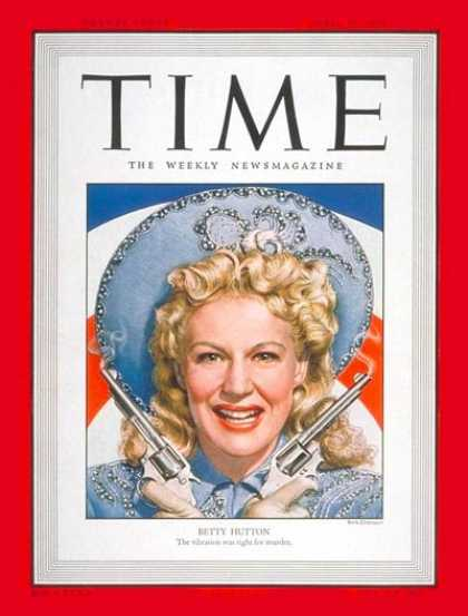 Time - Betty Hutton - Apr. 24, 1950 - Actresses - Movies - Broadway