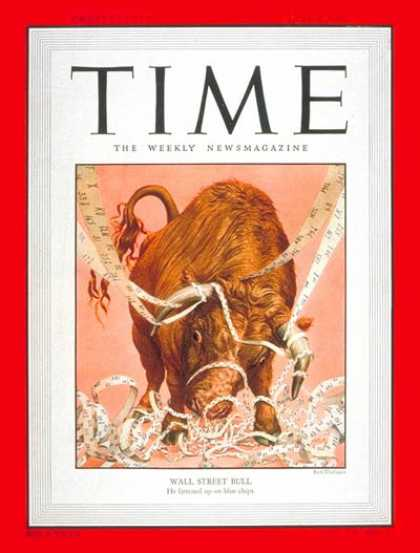 Time - Wall Street Bull - June 5, 1950 - Finance - Economy - Most Popular - Business