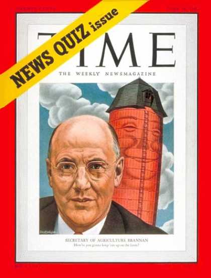 Time - Charles F. Brannan - June 19, 1950 - Agriculture