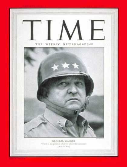 Time - General Walton Walker - July 31, 1950 - Army - Generals - Military