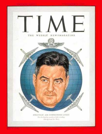 Time - Lt. General Curtis LeMay - Sep. 4, 1950 - Army - Military