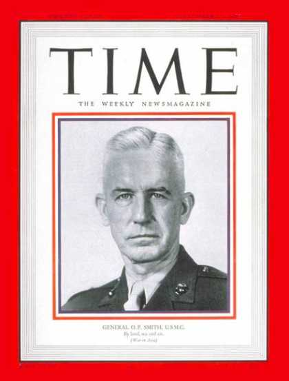 Time - General O.P. Smith - Sep. 25, 1950 - Marines - Generals - Military
