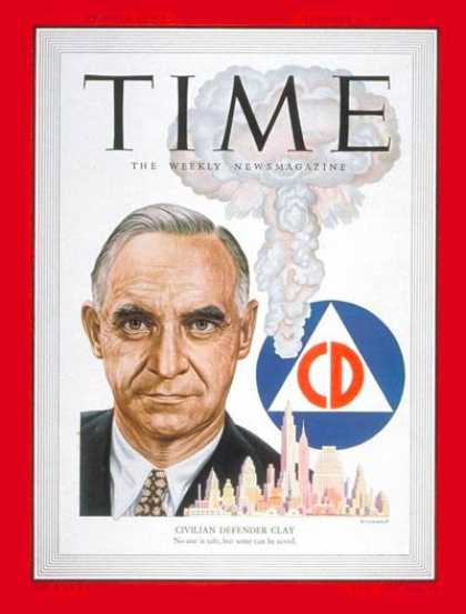 Time - Lucius Clay - Oct. 2, 1950 - Army - Generals - Military
