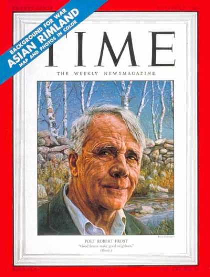 Time - Robert Frost - Oct. 9, 1950 - Books - Poets