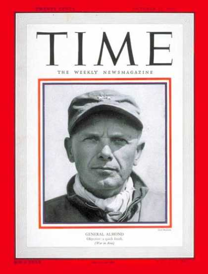 Time - Major General Almond - Oct. 23, 1950 - Army - Military