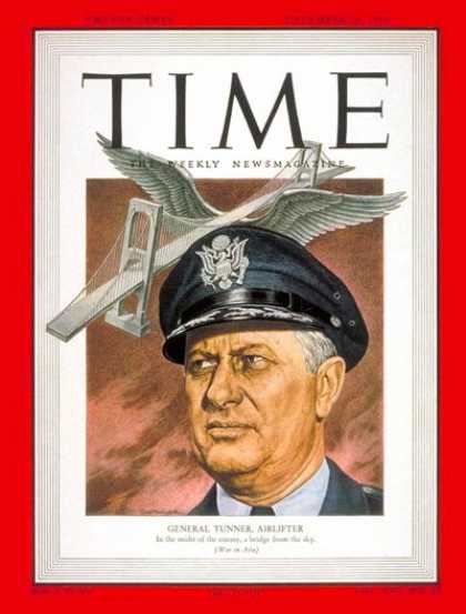 Time - Major General Tunner - Dec. 18, 1950 - Air Force - Military
