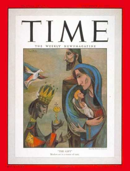 Time - F. Meyer's 'The Gift' - Dec. 25, 1950 - Mary - Jesus - Painters - Art