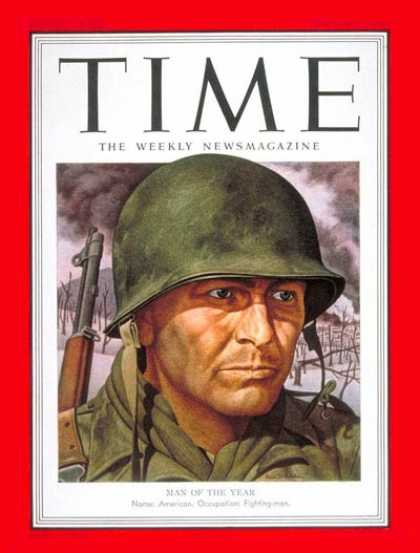 Time - G.I. Joe, Man of the Year - Jan. 1, 1951 - Person of the Year - Korean War - Mil