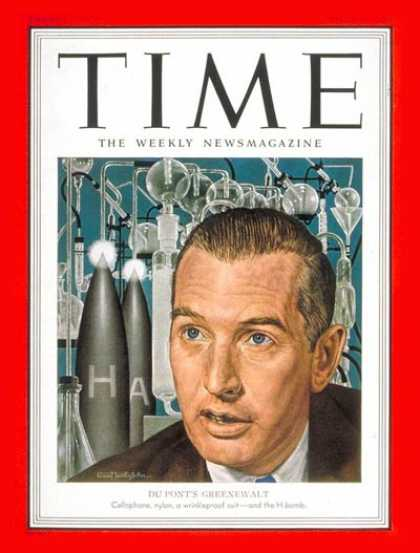 Time - Crawford Greenewalt - Apr. 16, 1951 - Nuclear Weapons - Atomic Bomb - Du Pont -