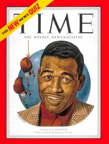 Time - Sugar Ray Robinson - June 25, 1951 - Boxing - Most Popular - Sports