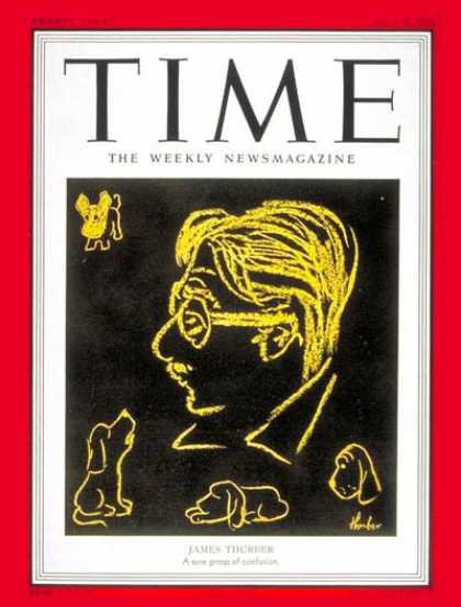 Time - James Thurber - July 9, 1951 - Books - Art - Journalism