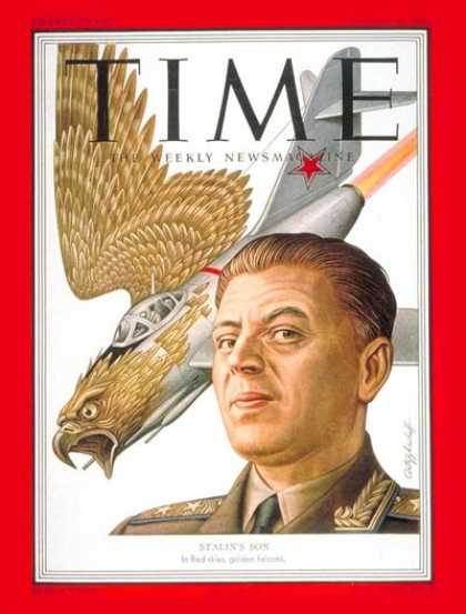 Time - Lt. Gen. Vasily Stalin - Aug. 20, 1951 - Russia - Military