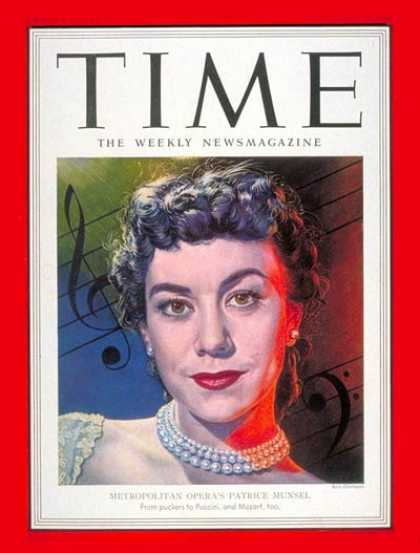 Time - Patrice Munsel - Dec. 3, 1951 - Opera - Singers - Music